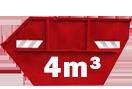 4m³-eskonténer rendelése Csömör területére
