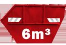 6m³-es konténer Budapest 1. kerületbe