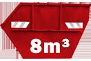 Csömörre, 8m³-es hulladék konténerek